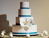 Wedding cake in blue and white